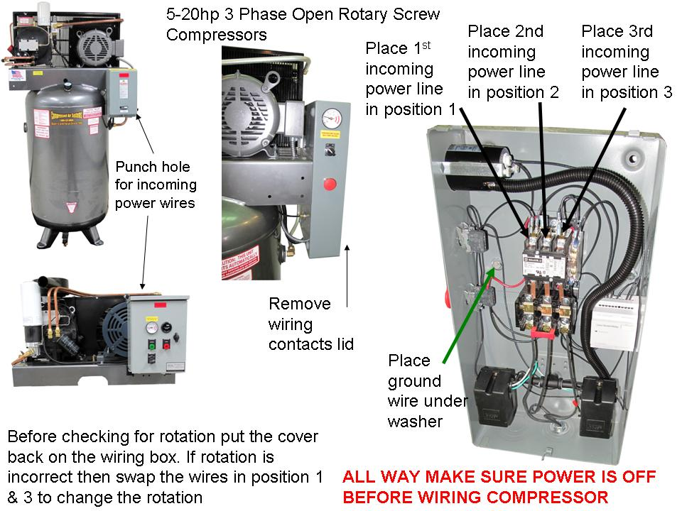 5-20-3phaseOpenRotaryWire  Phase Compressor Wire Diagrams on neutral wire diagram, add a phase wiring diagram, three-phase circuit diagram, 3 wire electrical wiring diagram, 480 volt wire diagram, 3 phase cord, 4 pole wire diagram, 3 phase motor wiring connection, pump wire diagram, single-phase motor reversing diagram, 3 phase electric panel diagrams, refrigeration wire diagram, electric wire diagram, 3 phase troubleshooting, wiring 1 phase wiring diagram, 3 phase sensor, dc wire diagram, delta wire diagram, 3 phase wire chart, single wire diagram,